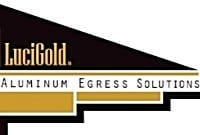 LuciGold Logo Aluminum Egress Solutions. Basement Bulkhead Doors, Custom Cellar Doors